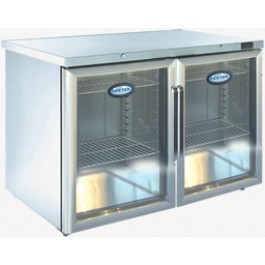 Foster HR 360G Refrigerator Undercounter Cabinet with Glass Door (+3°/+5°C)
