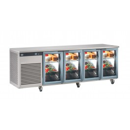 Foster EP 1/4 G EcoPro G2 Refrigerator Counter with Glass Doors (+1°/+4°C)