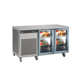 Foster EP 1/2 G EcoPro G2 Refrigerator Counter with Glass Doors (+1°/+4°C)