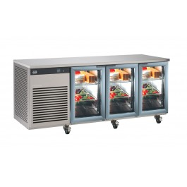 Foster EP 1/3 G EcoPro G2 Refrigerator Counter with Glass Doors (+1°/+4°C)