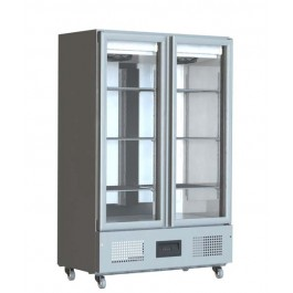 Foster FSL 800 G Slimline Refrigerator with Glass Doors (+1°/+4°C)
